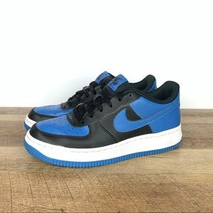 NIKE Air Force 1 Low Sneakers Blue/Black Youth 5